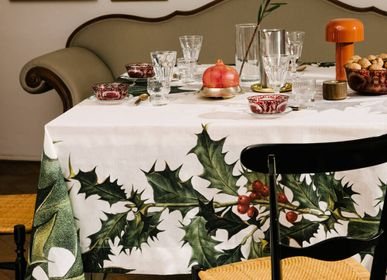 Table cloths - Ilex Linen Tablecloth - THE NAPKING  BY BELLAVIA HOME