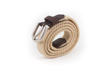 Leather goods - Women's braided belt beige brown - VERTICAL L ACCESSOIRE