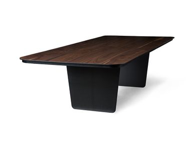 Tables - Modern Solid Charred Claro Walnut Top with Thin Carbon Fiber Legs - TOKIO FURNITURE&LIGHTING