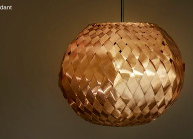 Pendant lamps - Copper weaved ceiling pendant  - WOLOCH COMPANY