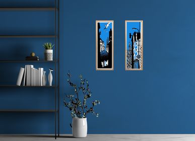 Wall decoration - elongated poster seagulls - ST