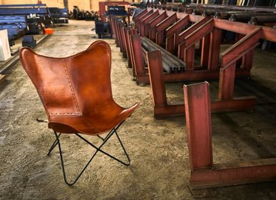 Chairs - Chair BUTTERFLY Leather - MISTER WILS