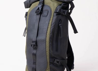 Travel accessories / suitcase - Backpack Upcycled Made of Army Tents and Tyres - IWAS PRODUCTS