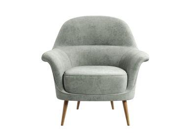 Armchairs - Grey Velvet Armstrong Armchair - MYTTO