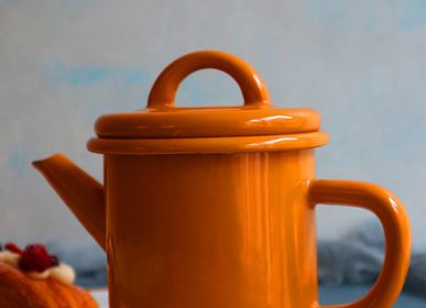 Cutlery service - Cylindrical teapot - ELIFLE ENAMELWARE