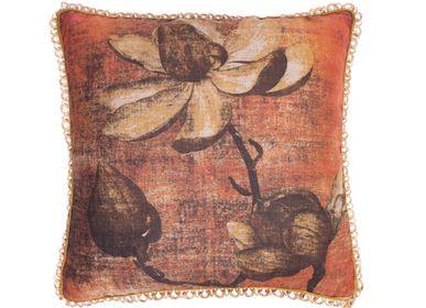 Cushions - Magnolia square cushion cover - TRACES OF ME