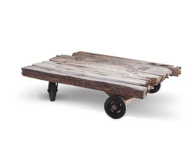 Tables basses - Mendoza table basse roulettes chemin de fer - SEMPRE LIFE