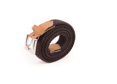 Leather goods - Women's braided belt brown - VERTICAL L ACCESSOIRE