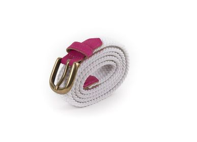 Leather goods - Women's braided belt white pink - VERTICAL L ACCESSOIRE
