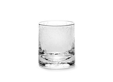 Crystalware - Whiskey glass cracked large - SEMPRE LIFE