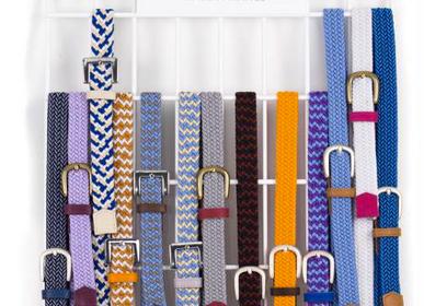 Leather goods - Women's orange braided belt - VERTICAL L ACCESSOIRE