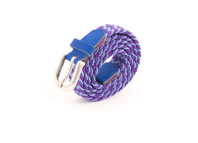 Leather goods - Women's braided belt purple blue - VERTICAL L ACCESSOIRE