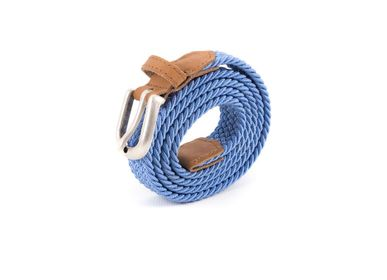 Leather goods - Women's braided belt light blue - VERTICAL L ACCESSOIRE