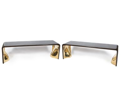 Bancs - Pair Bronze Benches - AZEN