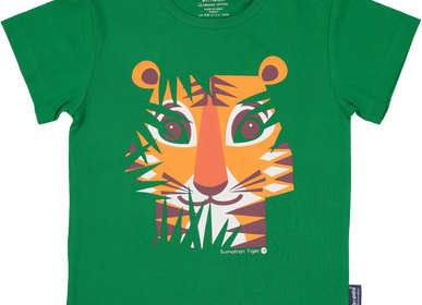 Children's fashion - Tiger Short Sleeve T-Shirt - COQ EN PATE