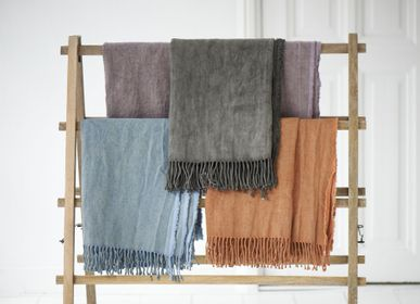 Throw blankets - stonewashed 100% linen throw - ML FABRICS