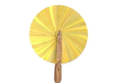 Travel accessories / suitcase - Fan yellow - SARANY SHOP