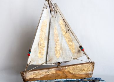 Decorative objects - En plo | Boat from olive wood - PITEROS DIMITRIS