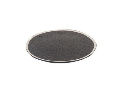 Assiettes au quotidien - Plaque Bob plate Ø27 x h1,5 noir - SEMPRE LIFE