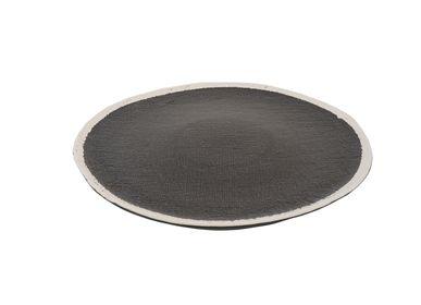 Assiettes au quotidien - Plaque Bob plate Ø32 x h1,5 noir - SEMPRE LIFE
