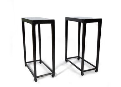 Console tables - Pair Black Stands - AZEN