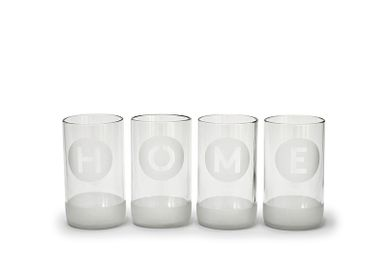 Glass - Tall Drinking Glasses – HOME (Set of 4) 350ml Upcycled from Bottles - IWAS PRODUCTS