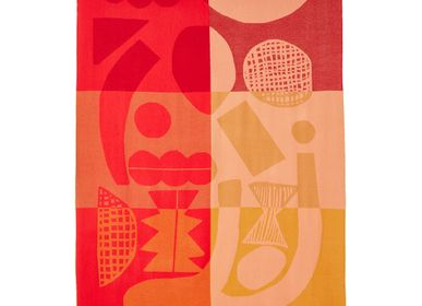 Plaids - Abstract Shapes Lambswool Throw - DONNA WILSON