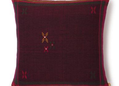 Cushions - Alyssa Purple - AADYAM HANDWOVEN