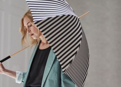 Leather goods - BLACK AND WHITE STRIPED UMBRELLA - PASOTTI
