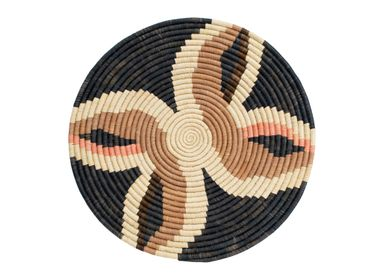 "Other wall decoration - 21"" Large Tabia Peach Woven Wall Art Plate - ALL ACROSS AFRICA + KAZI"