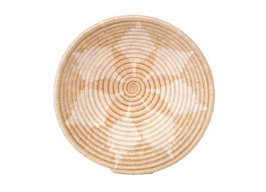 "Platter and bowls - Hope 12"" Large Round Wheat Basket - ALL ACROSS AFRICA + KAZI"