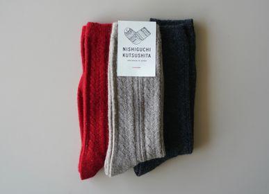 Socks - ALPACA WOOL CABLE SOCKS - NISHIGUCHI KUTSUSHITA