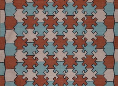 Contemporain -  Hexagone accroché Dhurrie - AZMAS RUGS