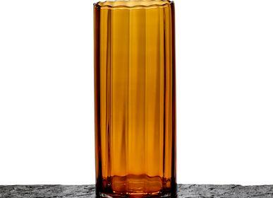 Vases - AF427/AMBER cylinder optic - MAISON PEDERREY / TONI VAN PARIJS
