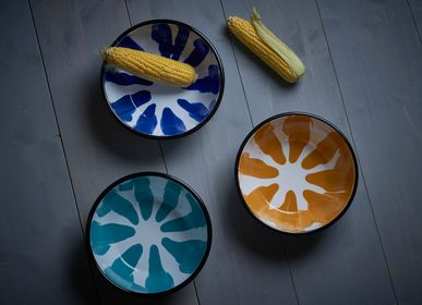 Pièces uniques - A Little Color Big + Small Bowls - KAPKA ENAMELWARE