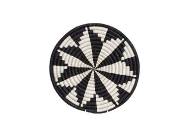 "Table mat - 10"" Black + White Virunga Trivet - ALL ACROSS AFRICA + KAZI"