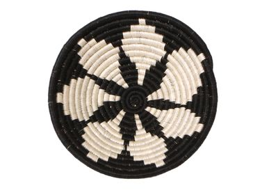 "Wall decoration - 10"" Medium Black Hope Round Basket - ALL ACROSS AFRICA + KAZI"