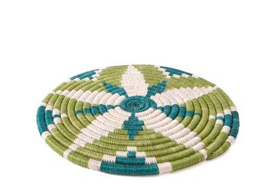 "Placemats - 10"" Pastel Green Trivet - ALL ACROSS AFRICA + KAZI"