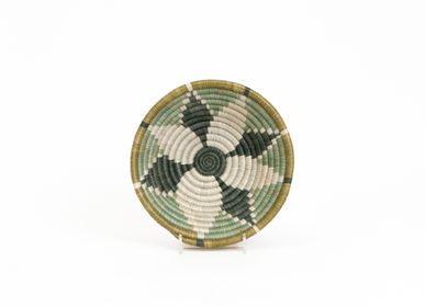 "Wall decoration - 6"" Small Bayou Hope Round Basket - ALL ACROSS AFRICA + KAZI"