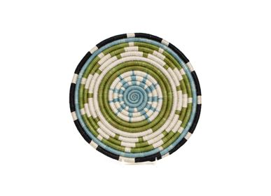 "Placemats - 10"" Pastel Green + Dusk Blue Trivet - ALL ACROSS AFRICA + KAZI"