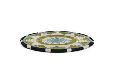 Sets de table - Dessous de plat 10 po vert pastel + bleu foncé - ALL ACROSS AFRICA + KAZI