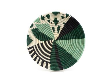 "Wall decoration - 12"" Large Ivy Biko Round Basket - ALL ACROSS AFRICA + KAZI"