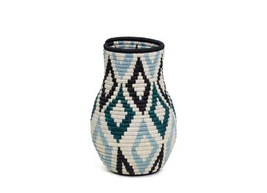 Vases - Dusk Blue + Teal Bulb Vase - ALL ACROSS AFRICA + KAZI