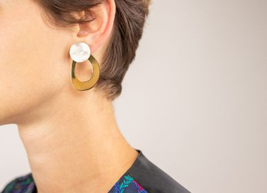 Jewelry - Horn and brass earrings - L'INDOCHINEUR PARIS HANOI