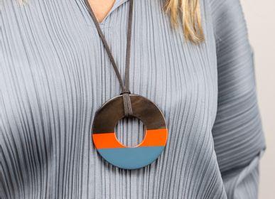 Jewelry - Two-tone lacquered pendants - L'INDOCHINEUR PARIS HANOI