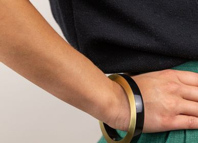 Jewelry - Brass and lacquer wood bracelets - L'INDOCHINEUR PARIS HANOI