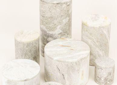 Objets de décoration - Boîtes en pierre naturelle rondes - L'INDOCHINEUR PARIS HANOI