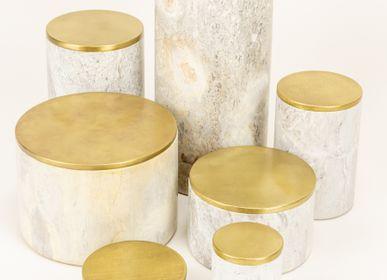Objets de décoration - Boîtes en pierre et laiton - L'INDOCHINEUR PARIS HANOI
