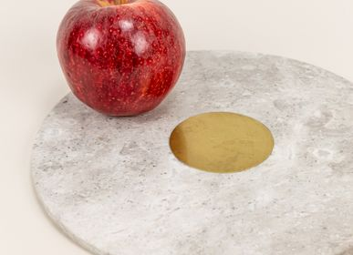 Table mat - Stone and brass trivet - L'INDOCHINEUR PARIS HANOI