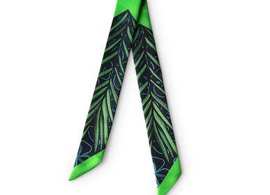 Foulards / écharpes - Fétiche à nouer - Palm Green - MAISON FÉTICHE
